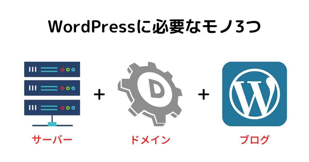 WordPressを始めるなら必要な3つ